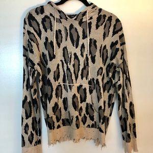 ed0e68bbe221 Fate Sweaters   Vici Distressed Leopard Print Sweater Nwot   Poshmark